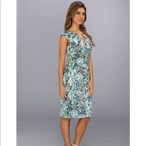 Adrianna Papell 16 spring floral dress green blue
